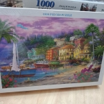 Jigsaw 1000 Pcs. ภาพต่อจิ๊กซอว์ รูปภาพวิว น้ำตก ขนาดภาพ 75x50 ซม. No.A916
