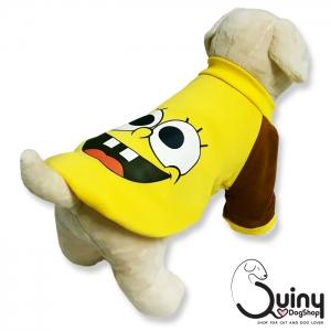 เสื้อสุนัข สปอง สีเหลือง