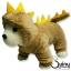 ชุดสุนัข กางกาง ก็อตซิล่า สีน้ำตาล thumbnail 1