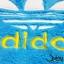 เสื้อสุนัข ลายแถบ adidog สีฟ้าเหลือง thumbnail 4