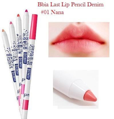 ++พร้อมส่ง++Bbia Last Lip Pencil Denim เบอร์ 01 Nana 0.5g