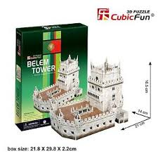 Belem Tower(Portugal) หอคอยบีเล็ม Total: 46 pcs Model Size: 21*14*16.5 cm.
