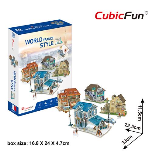 World Style Series 3D France Size: 33 x 22.5 x 11.5 cm จำนวน 131 ชิ้น Cubic Fun Thailand 3D Shop Puzzle