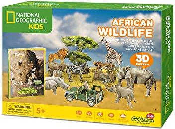 African Wildlife Size 37*60*21 cm Total 69 pcs.
