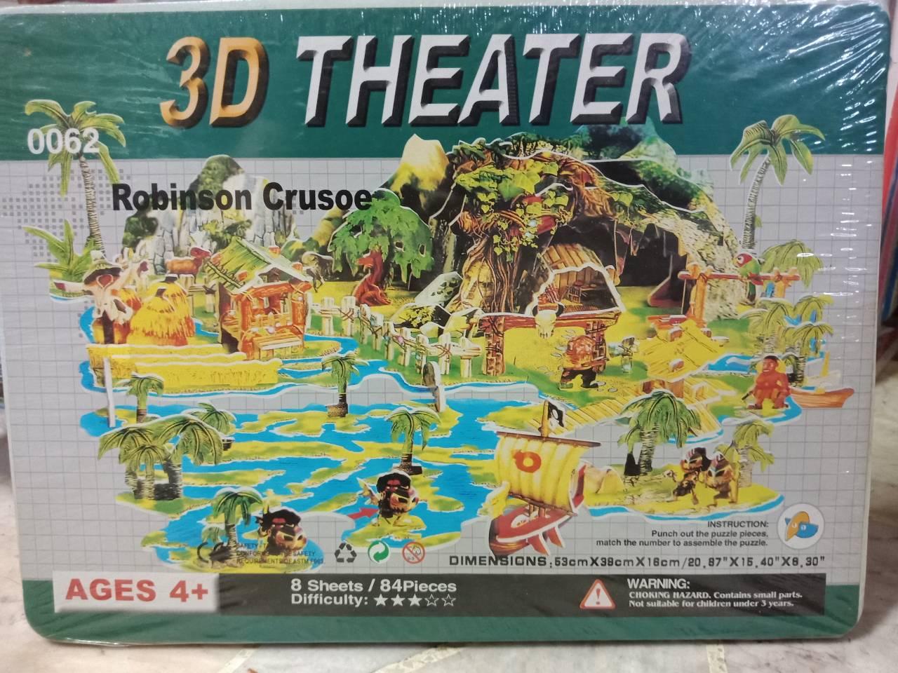 3D Fairy Tale Puzzle Dimensions .