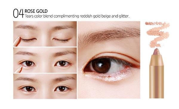 ++พร้อมส่ง++BBIA Last Auto Gel Eyeliner 0.5g สี (04 Rose Gold) อายไลน์เนอร์เนื้อเจล เขียนง่าย เส้นคมสวย แห้งเร็ว กันน้ำ ติดทนนาน