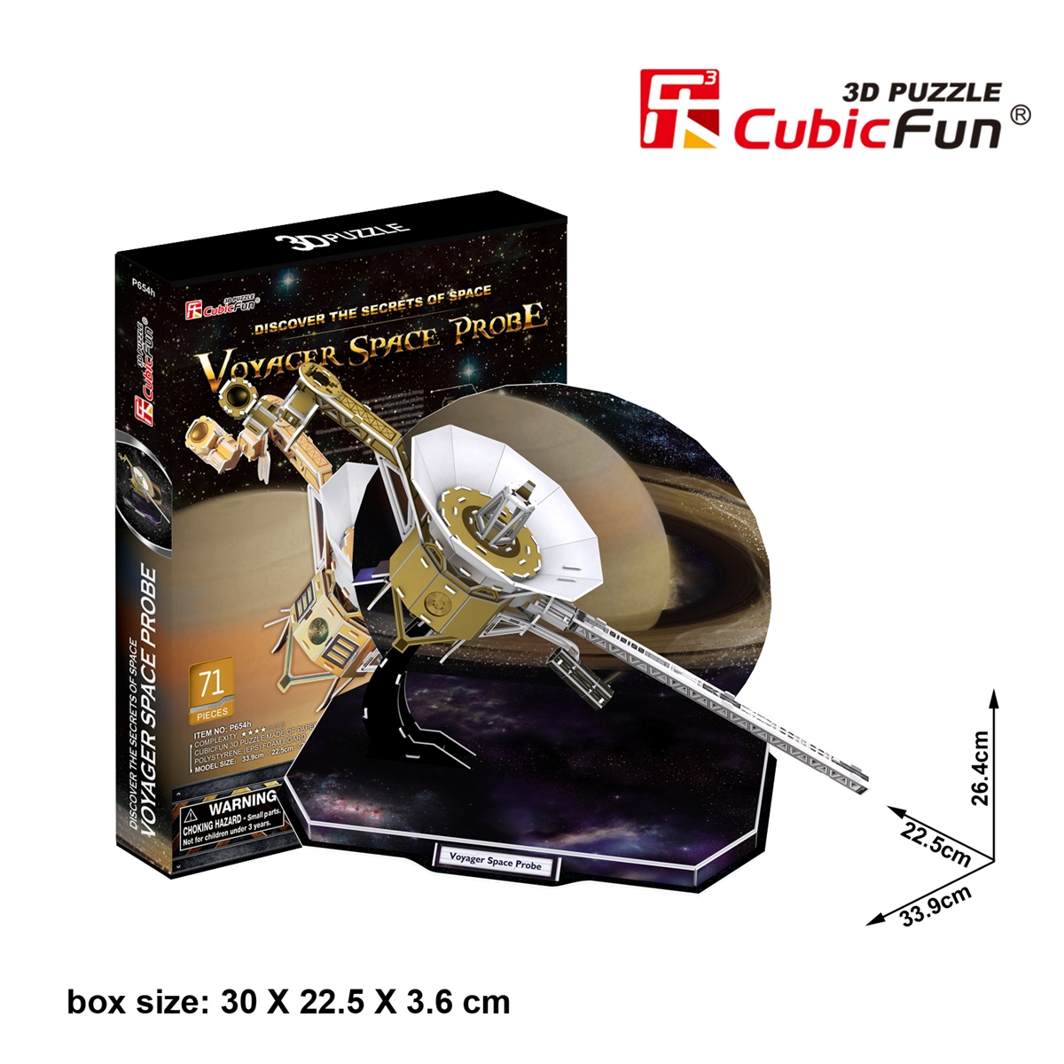 Voyager Space Probe Size 33.9*22.5*26.4 cm Total 71 Pieces.