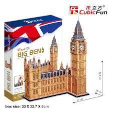 หอเอลิซาเบธ (Elizabeth Tower) Model 47*25*62.5 CM. Total 117 pieces Big Ben หอนาฬิกาพระราชวังเวสต์มินสเตอร์