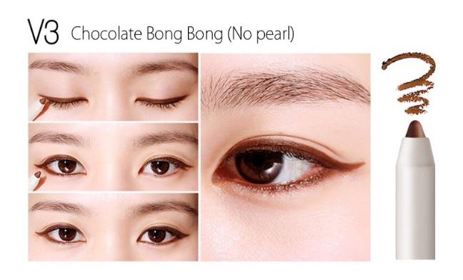 ++พร้อมส่ง++BBIA Choco Last Auto Gel Eyeliner 0.5g สี V3 Chocolat Bongbong อายไลน์เนอร์เนื้อเจล เขียนง่าย เส้นคมสวย แห้งเร็ว กันน้ำ ติดทนนาน