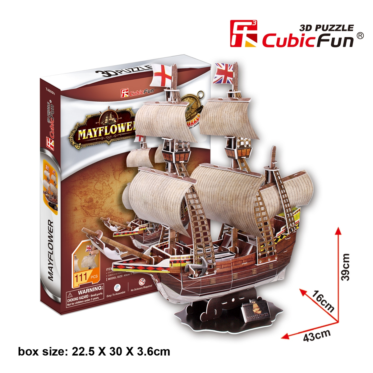 Mayflower Size 43*16*39 cm. Total 111 Pieces