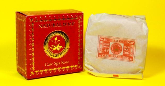 สบู่ก้อนมาดามเฮงแดง Care Spa Rose