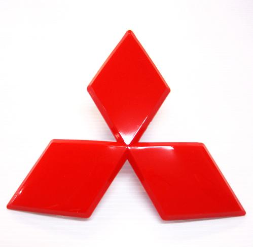 โลโก้หน้ารถ MISUBISHI สีแดง (Triton/ Pajero)