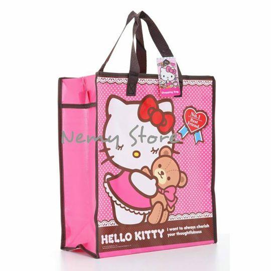 Hello Kitty Shopping Bag ไซส์ 40*35*15 cm. ราคาส่ง60 บาท