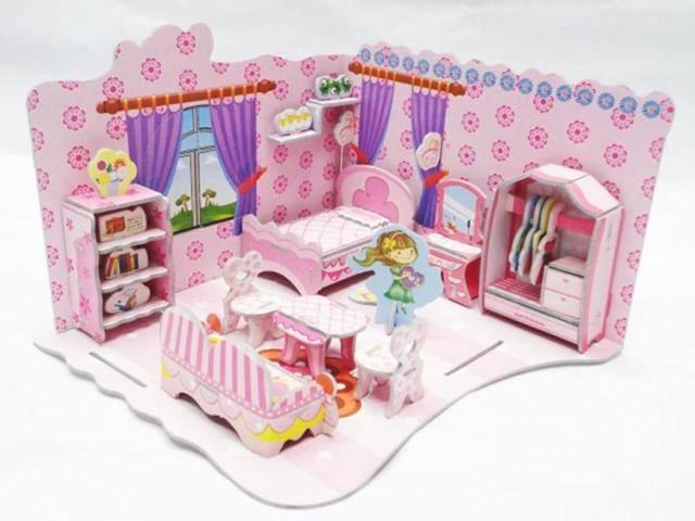 ห้องนอน โมเดล 3 มิติ จิ๊กซอว์