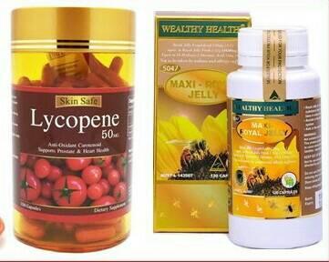 นมผึ้งmaxi 1ปุก 120 เม็ด +สารสกัดมะเขือเทศ 1ปุก 150 เม็ด ทานบำรุงผิวพรรณกระจ่างใส ออร่า ลดฝ้า ลดกระ ลดจุดด่างดำ ปรับสมดุลฮอร์โมน ลดเรืนริ้วรอย และสุขภาพดี