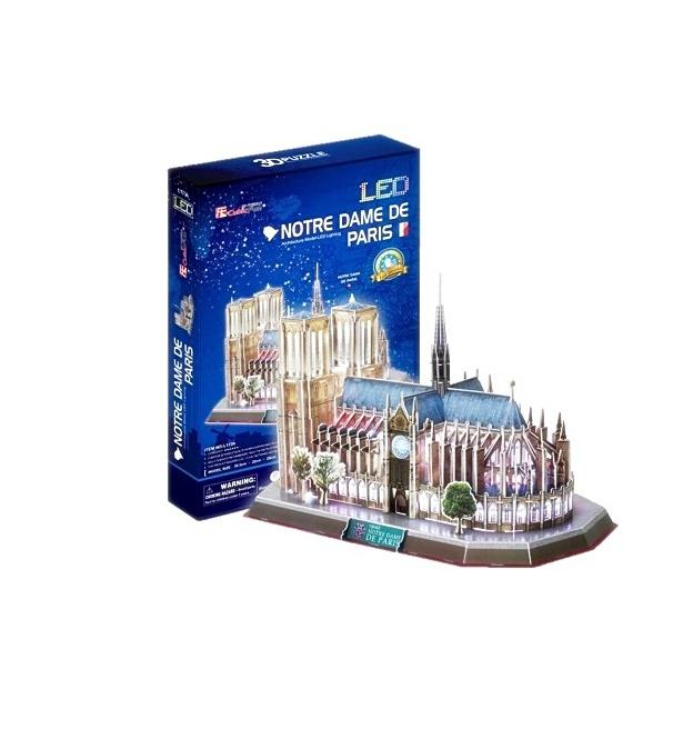 โมเดลประกอบ 3มิติ ไฟLED มหาวิหารน็อทร์-ดาม แห่งปารีส