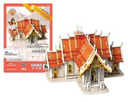 โมเดลวัดไทย วัดเบญจมบพิตรดุสิตวนาราม ชุดโมเดล 3มิติ จิ๊กซอร์ไทย อะเมสซิ่งไทยแลนด์