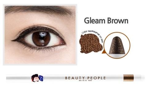 ++พร้อมส่ง++Beauty People Miss 100 Auto Super Gel Pencil Liner 0.5g #Gleam Brown