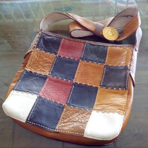กระเป๋าหนังสะพานข้าง (Handmade)