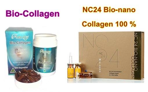Ausway Bio Collagen ออสเวย์ไบโอคอลลาเจน 30 เม็ด+NC24 Bio-nano Collagen 1ขวด ผิวเด้งยกกำลัง2
