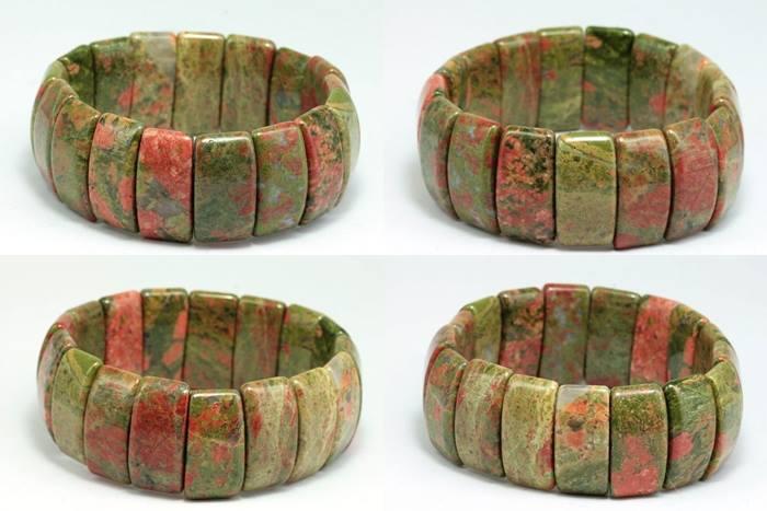 กำไลหินสี Unakite bracelet