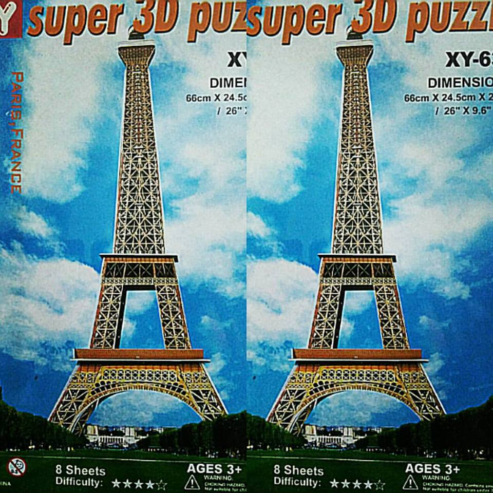 Eiffel Tower Dimensions 66*24.5*24.5 cm. บิ๊กโมเดล 3 มิติ