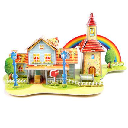 Rainbow Cabin Super 3D puzzle Education for DIY