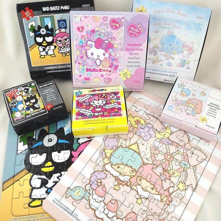 Jigsaw Puzzle Sanrio Bad Bads Maru 500pcs. จิ๊กซอว์แบด มารุ500ชิ้น คละแบบ 3กล่อง
