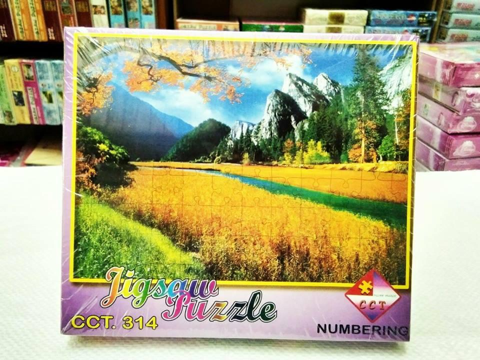 ภาพวิวทิวทัศน์ จิ๊กซอร์ 500 ชิ้น Numbering Jigsaw Puzzle 500 Pieces Size 53 x 38 cm.