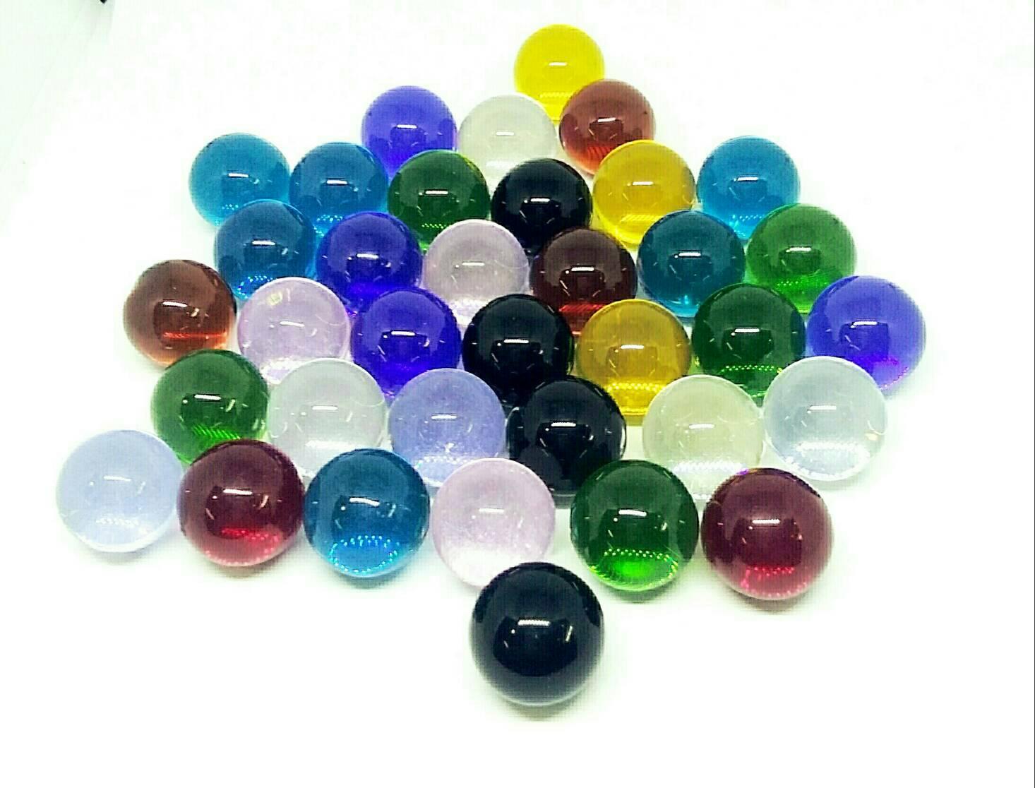 ลูกแก้วใส หลากสี Glass ขนาด 14 มล. 9สี 9ลูก ราคา 195 บาท รับประกัน แตก เปลี่ยนให้ใหม่