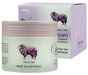 ครีมรกแกะ Careline Lanolin Cream with Grape Seed Oil Vitanmin E ขนาด 100 กรัม ครีมรกแกะผสมเมล็ดองุ่น จากออสเตรเลีย