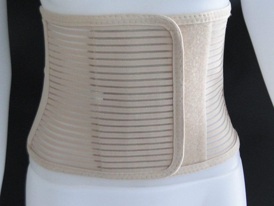 Abdominal Belt - ยางยืดรัดหน้าท้อง Size XL 40-44 นิ้ว (สีเบจ)