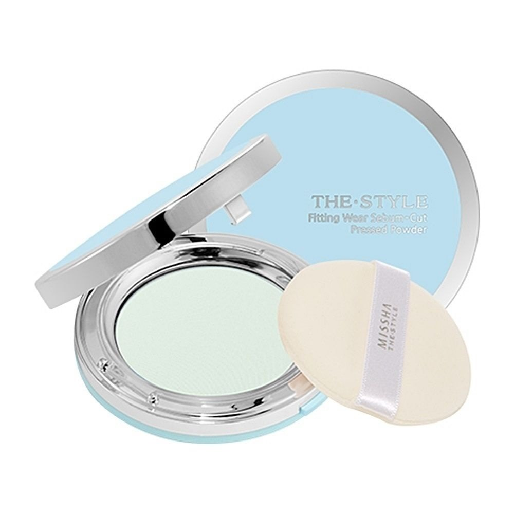 ++พร้อมส่ง++Missha The Style Fitting Wear Sebum Cut Pressed Powder 11g เบอร์ 01 Clear Mint