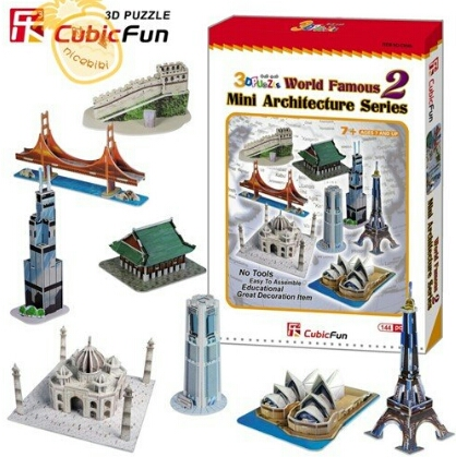 CubicFun Mini Architecture Series 2 World Famous 3D ครบชุด เพียง249บาท