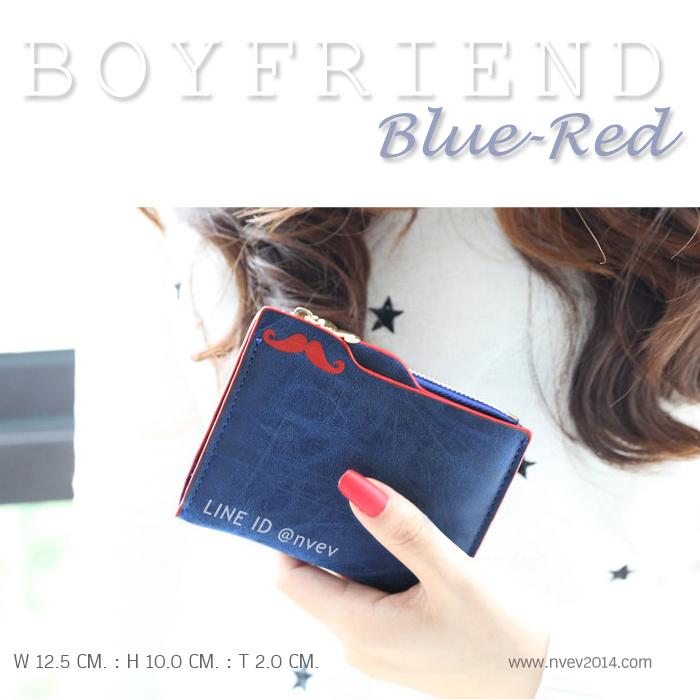 กระเป๋าสตางค์ผู้หญิง BOYFRIEND-Blue-Red