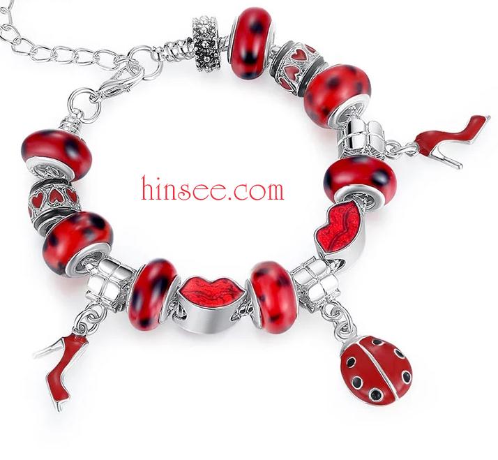ข้อมือมูลาโน Murano glass beads Silver