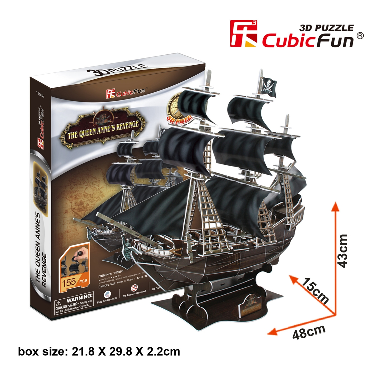 The Queen Anne's Revenge Total: 155 pcs Model Size: 48*15*42.5 cm.