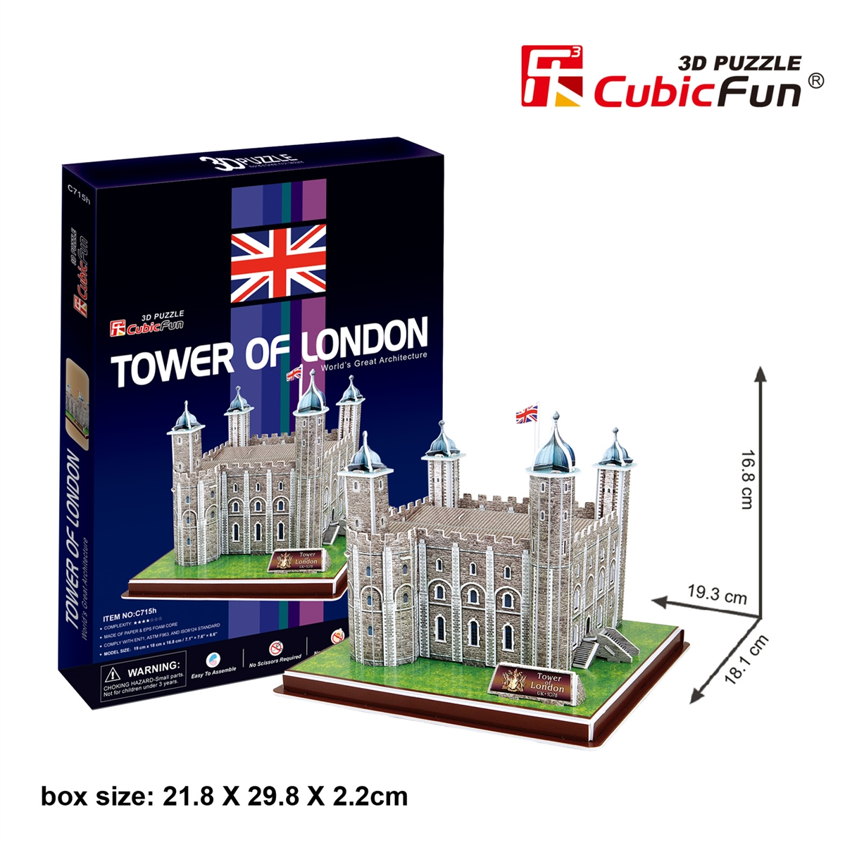 Tower of London หอคอยแห่งลอนดอน Size 19.3*18*16.8 cm Total 40 pcs.