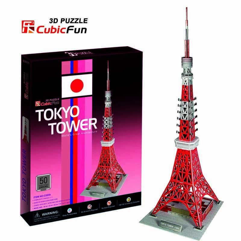 โตเกียวทาวเวอร์ Tokyo Tower(Japan) Total: 50 pcs Model Size: 20*23*62 cm.