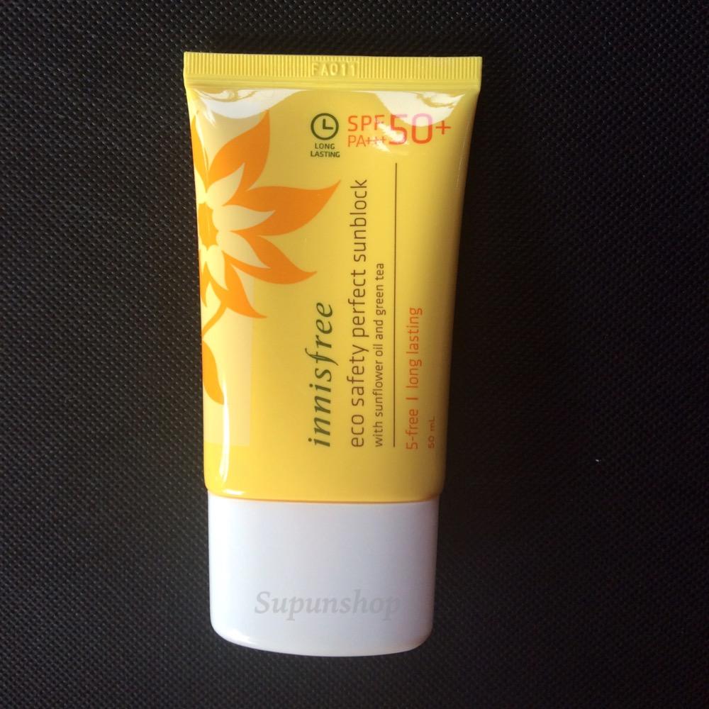 ++พร้อมส่ง++Innisfree Eco Safety Perfect Sunblock SPF50+PA+++50ml