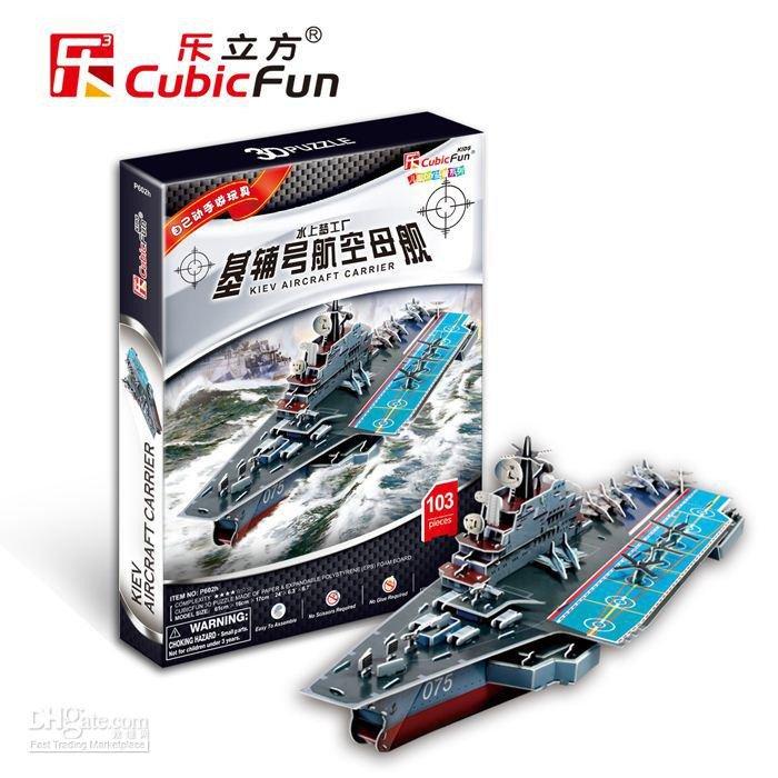 Kiev Aircraft Carrier CubicFun 3D Puzzle Size 61*16*17 cm 103 pcs.