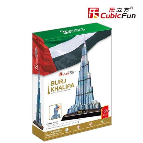 Burj Khalifa บุรจญ์เคาะลีฟะฮ์ หรือเดิมชื่อ บุรจญ์ดูไบ Size 39 x 34 x 146 cm Total 136 pcs.