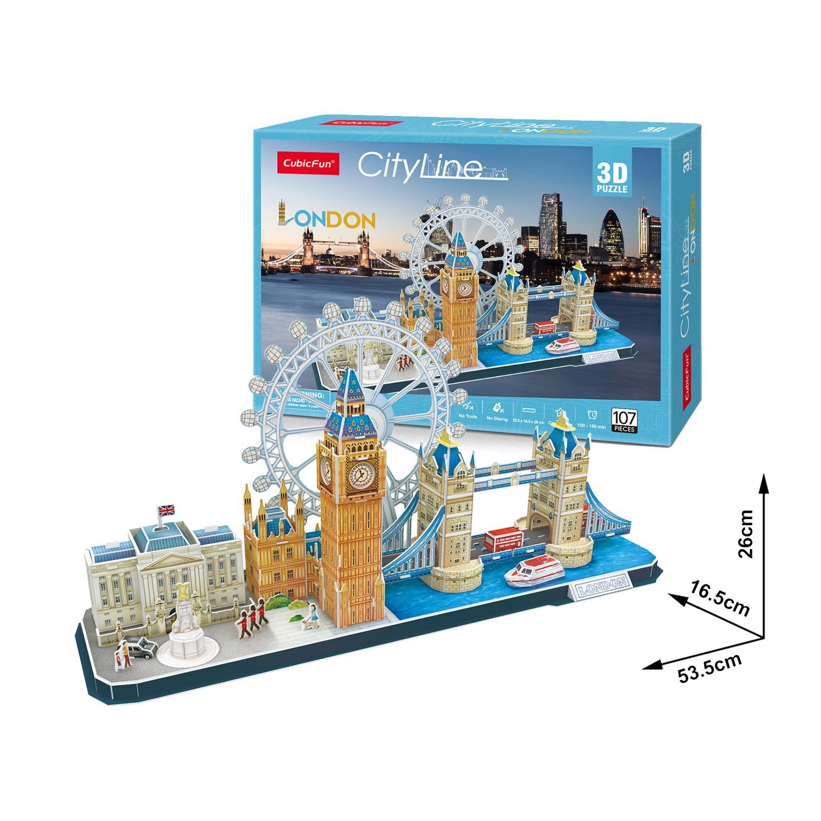 City Line London Size 53.5*16.5*26 cm Total 107 pcs.