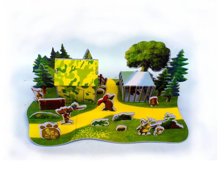 โมเดล 3 มิติ บ้านต้นไม้ สวนสัตว์