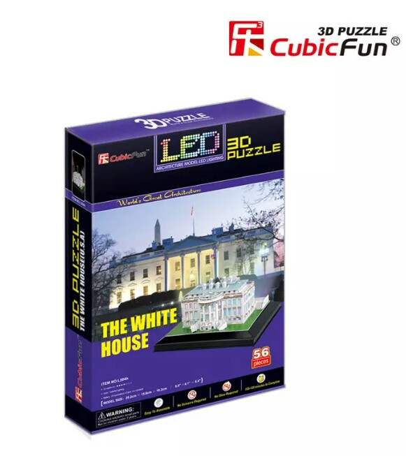The White House US ขนาด 20.2*15.6*16.2 cm. มีไฟ LED Total 56 pcs.