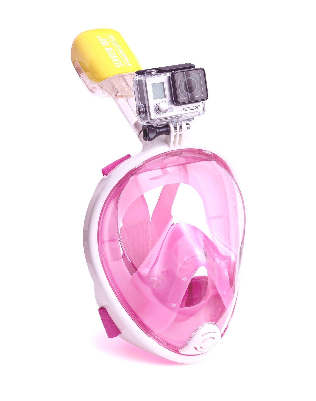 Easy Breath snorkeling mask - Size S/M - [ ชมพู ] (Sea Travel)