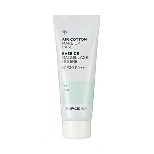 ++พร้อมส่ง++The Face Shop Air Cotton Make Up Base SPF30,PA++ 40ml (Mint) เบสเขียว