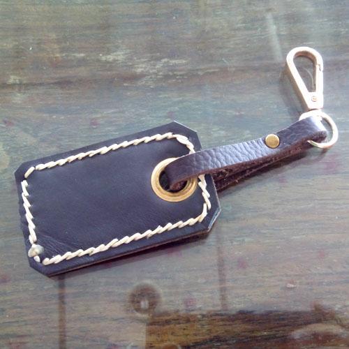 พวงใส่กุญแจหนังแท้ (Handmade)