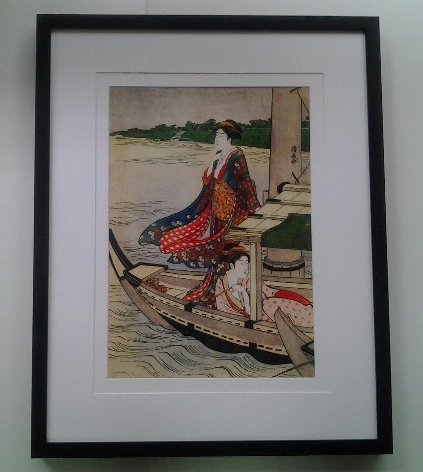 กรอบและภาพญี่ปุ่นโบราณ A (โทรสอบถามราคา)