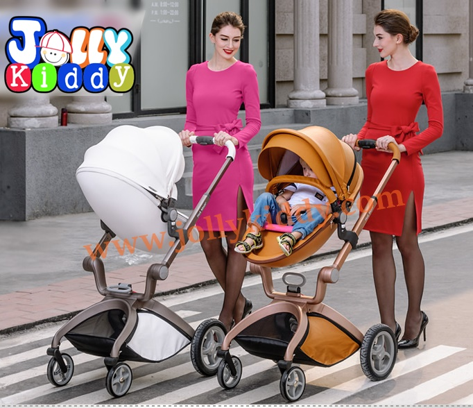 รถเข็นเด็ก Premium design Ovule basket เเบบ High landscape สีขาว ฺ/ สีน้ำตาล